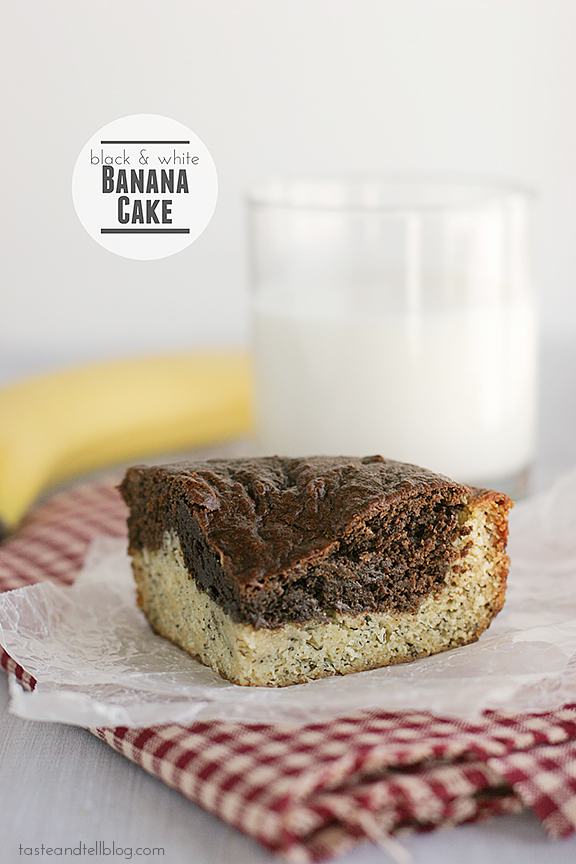 Black and White Banana Cake