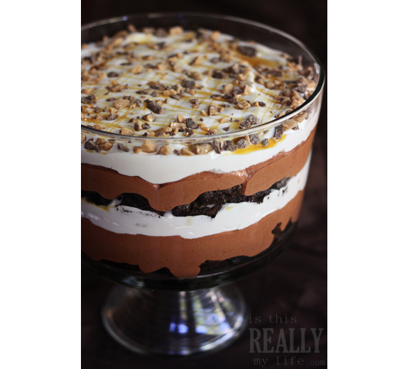 Chocolate Brownie Trifle from Is This Really My Life?