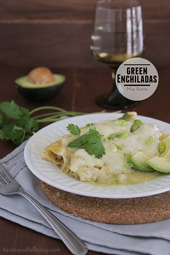 Green Enchiladas | www.tasteandtellblog.com #recipe #mexican #chicken