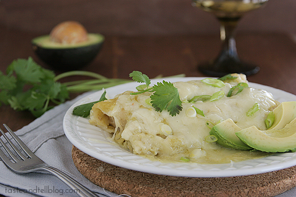Green Enchiladas | www.tasteandtellblog.com #recipe #mexican #chicken