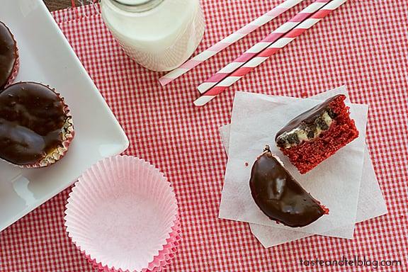Red Velvet Cheesecake Cupcakes | www.tasteandtellblog.com #recipe #redvelvet #cupcake