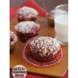 Red Velvet Cream Cheese Muffins | www.tasteandtellblog.com #recipe #redvelvet #breakfast