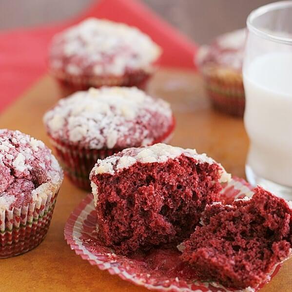 Red Velvet Cream Cheese Muffins recipe