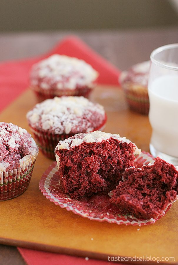 Red Velvet Cream Cheese Muffins {Red Velvet Week}