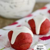 Red Velvet Rolls with Cream Cheese Glaze | www.tasteandtellblog.com