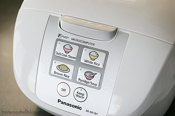 Panasonic Rice Cooker Giveaway | www.tasteandtellblog.com