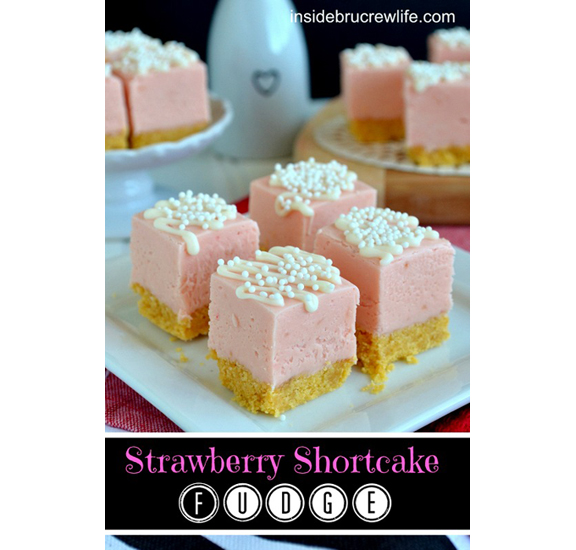 Strawberry Shortcake Fudge from Inside Brucrew Life