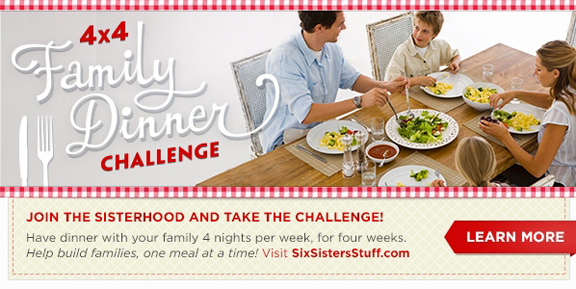4X4 dinner challenge from Six Sisters' Stuff | www.tasteandtellblog.com