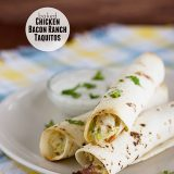 Baked Chicken Bacon Ranch Taquitos | www.tasteandtellblog.com #recipe #chicken #bacon