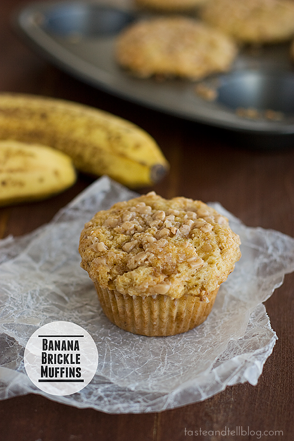 Taste and Tell Thursdays – Banana Brickle Muffins