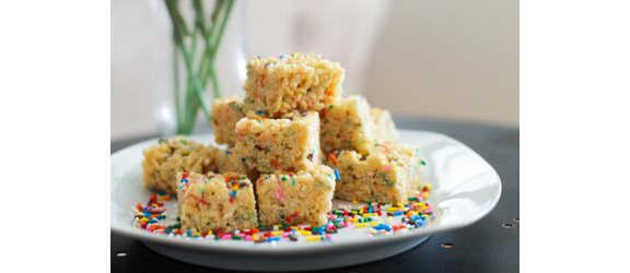 Cake Batter Rice Krispie Treats | Sally's Baking Addiction