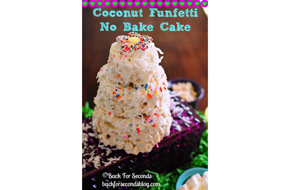 Coconut Funfetti No Bake Cake | Back For Seconds