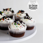 Cookies and Cream Ice Cream Cupcakes {and a giveaway}