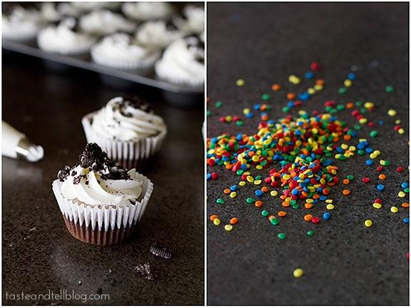 Cookies and Cream Ice Cream Cupcakes | www.tasteandtellblog.com