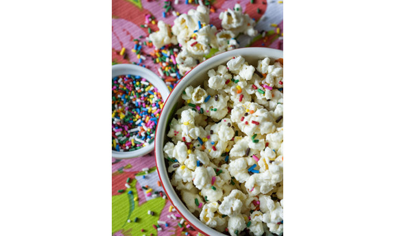Funfetti Cake Batter Popcorn | Erica's Sweet Tooth