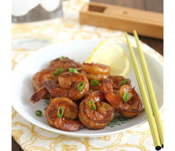Shrimp with Spicy Garlic Sauce from Tracey's Culinary Adventures