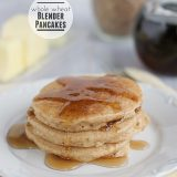 Whole Wheat Blender Pancakes {and a Blendtec Giveaway}