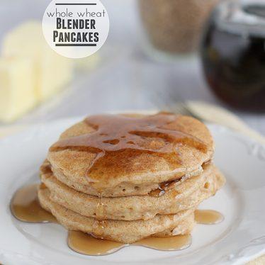 Whole Wheat Blender Pancakes - and a Blendtec Giveaway! | www.tasteandtellblog.com