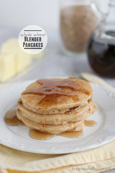 Whole Wheat Blender Pancakes - and a Blendtec Giveaway! | www.tasteandtellblog.com