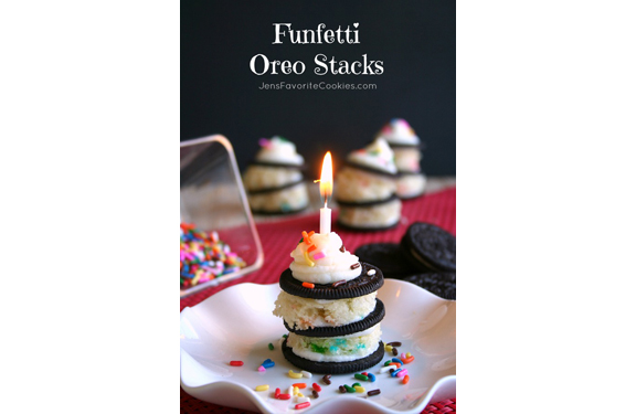 Funfetti Oreo Stacks | Jen's Favorite Cookies