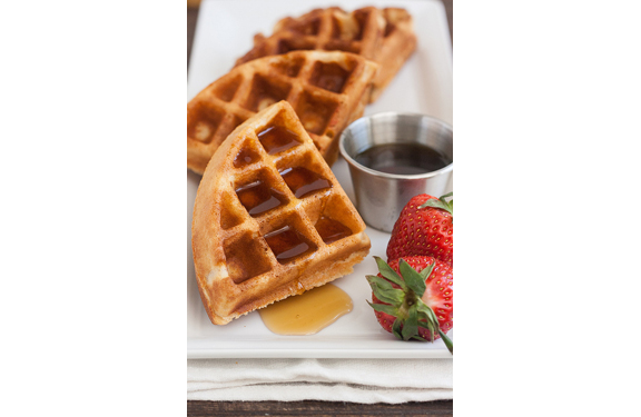 100% Whole Wheat Waffles from Tracey's Culinary Adventures