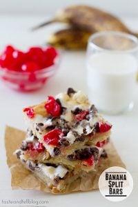 Banana Split Bars | www.tasteandtellblog.com