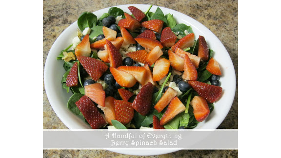 Berry Spinach Salad from A Handful of Everything