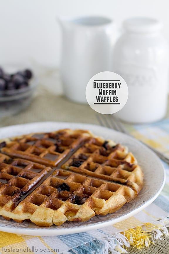 Blueberry Muffin Waffles | www.tasteandtellblog.com