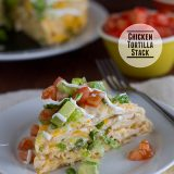 Chicken Tortilla Stack | www.tasteandtellblog.com