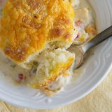 Creamy Chicken and Biscuits | www.tasteandtellblog.com