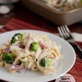 Ham and Broccoli Pasta Bake - perfect for ham leftovers!   www.tasteandtellblog.com