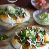 Loaded Mini Taco Pizzas | www.tasteandtellblog.com