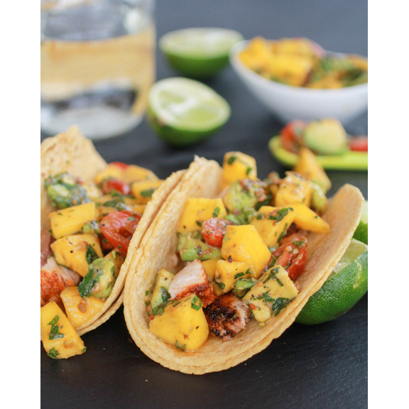 Mahi Mahi Fish Tacos with Chipotle Mango Salsafrom  Half Baked Harvest
