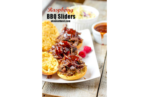 Raspberry BBQ Sliders from Sweet Basil