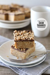 Skor Squares - only 4 ingredients! | www.tasteandtellblog.com