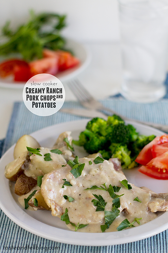 Slow Cooker Creamy Ranch Pork Chops and Potatoes