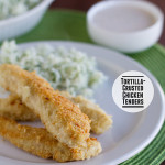 Tortilla-Crusted Chicken Tenders | www.tasteandtellblog.com