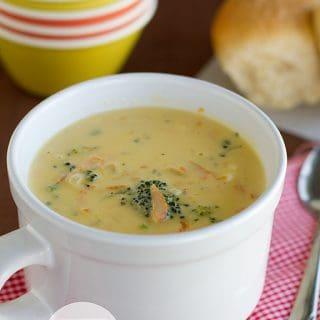 Broccoli Cheese Soup | www.tasteandtellblog.com