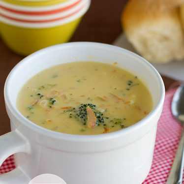 Broccoli Cheese Soup   www.tasteandtellblog.com