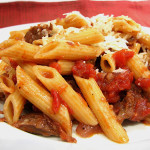 Cookbook of the Month Recipe – Pasta and Rustic Slow-Simmered Tomato Sauce with Meat