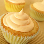 Cupcakes with Orange Cream Cheese Frosting