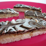 Cookbook of the Month Recipe – Marbled Caramel Chocolate Slice