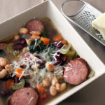 Cookbook of the Month Recipe – Slow-Cook Tuscan Sausage and Bean Soup