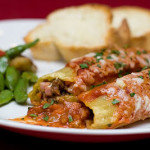 Mario Batali's Stuffed Manicotti with Beef