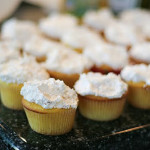 Lemon Pop Cupcakes with Pineapple Coconut Topping