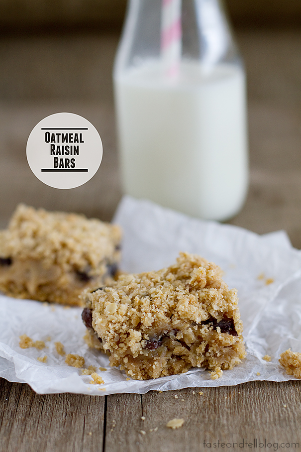 Oatmeal Raisin Bars | www.tasteandtellblog.com