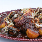 Cookbook of the Month Recipe – Red-Chile Braised Chicken with Potatoes and Greens