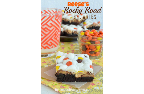 Reese's Rocky Road Brownies from Inside BruCrew Life
