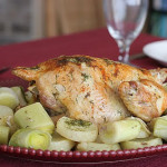 Cookbook of the Month Recipe – Roast Dill-Scented Chicken with Leeks and Potatoes