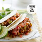 Sausage and Potato Tacos | www.tasteandtellblog.com